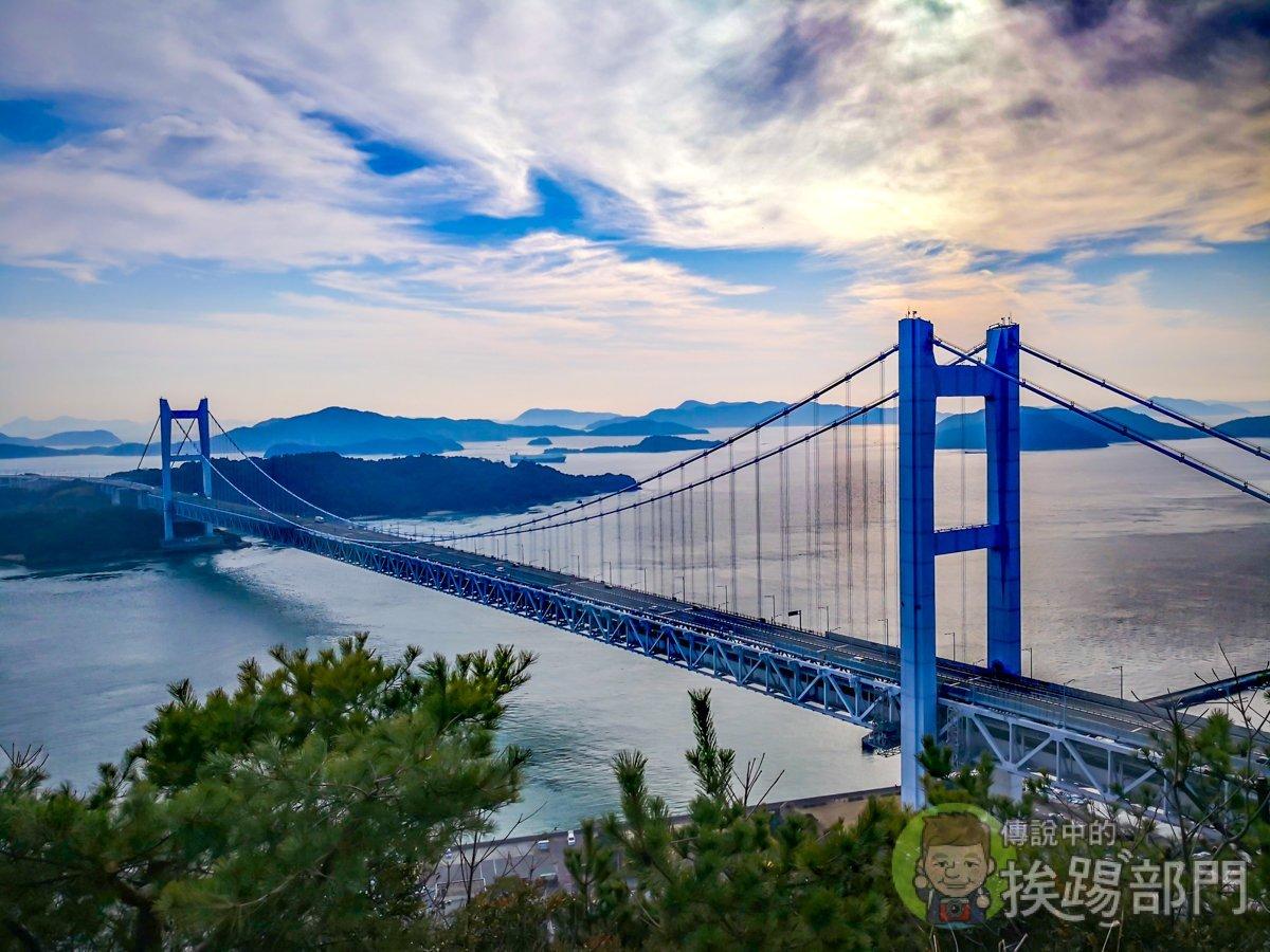 教您如何搭乘夕陽巴士到鷲羽山展望台看瀨戶大橋夕陽